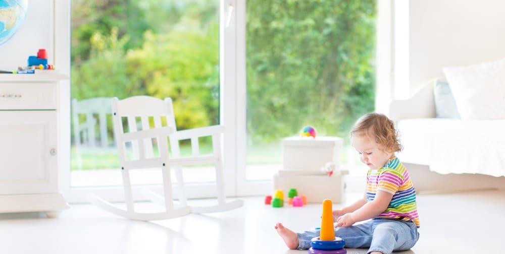 Gietvloer in de kinderkamer